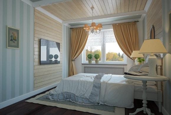 Прованская спальня с тюлью
