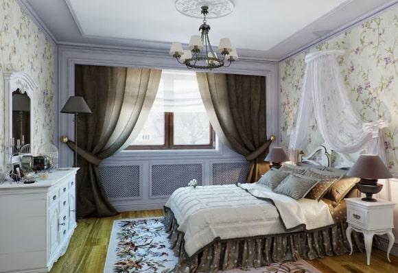 Прованская спальня серого цвета