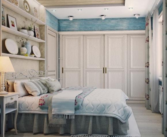 Прованская спальня со шкафом-купе
