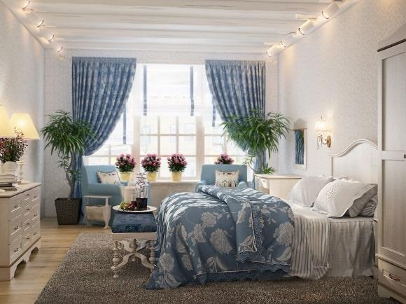 Современная прованская спальня