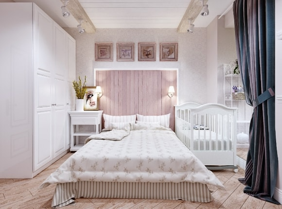 Спальня в стиле прованс 14 кв.м.