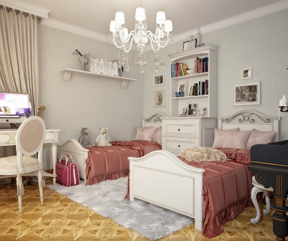 Спальня в стиле прованс для двух девочек
