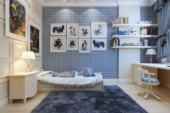 Спальня в стиле прованс для мальчика-подростка