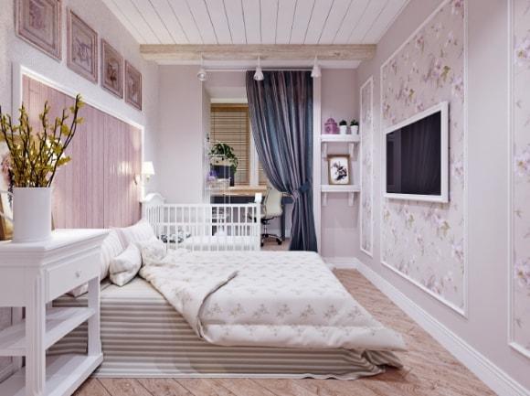 Спальня в стиле прованс маленького размера