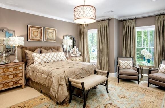 Спальня в стиле прованс с кофейным столиком
