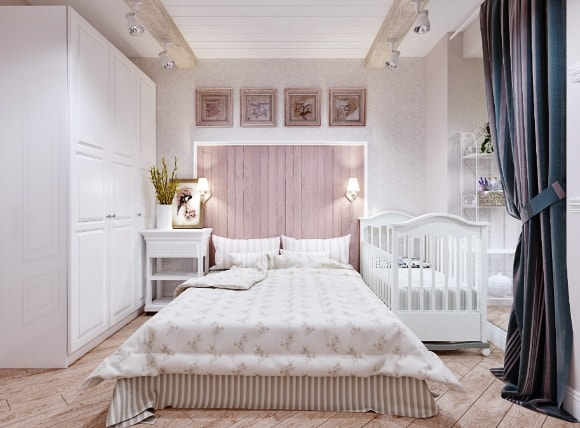 Спальня в стиле прованс в светлых тонах