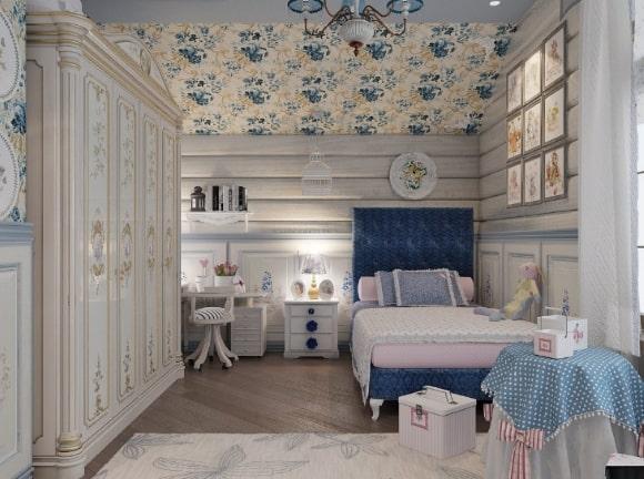 Загородная спальня в стиле прованс