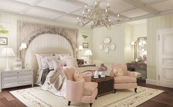 Женская прованская спальня