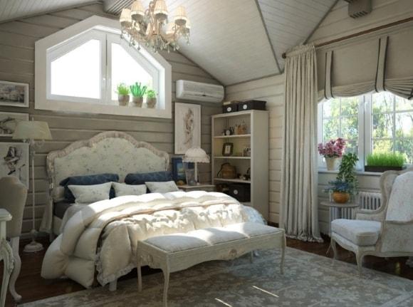 Дизайн прованской спальни на даче