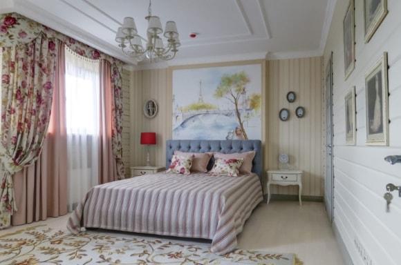 Дизайн прованской спальни в частном доме