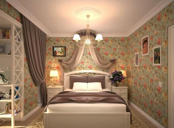 Дизайн прованской спальни в малогабаритной комнате