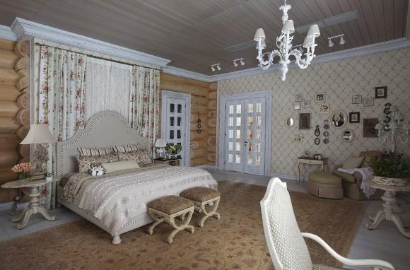 Идеальный интерьер прованской спальни