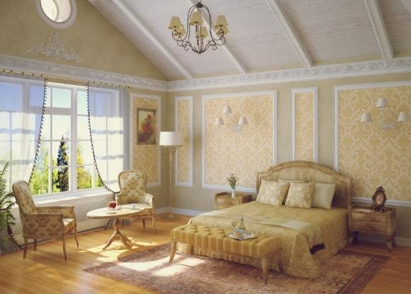 Прованская спальня в частном доме
