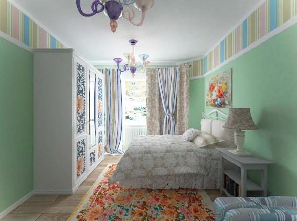 Прованская спальня в квартире