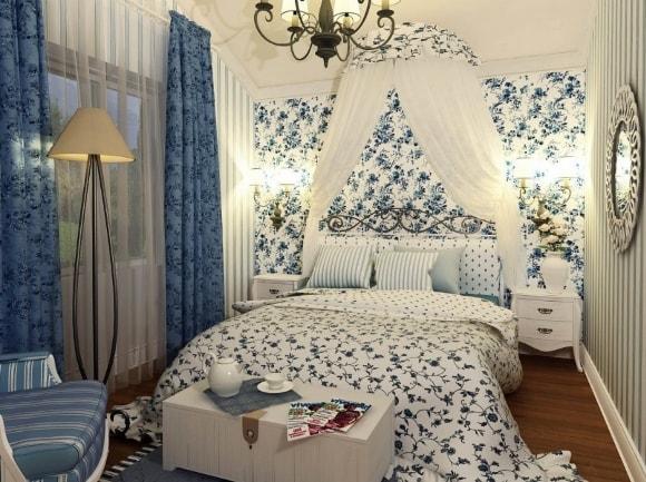 Прованская спальня в малогабаритной комнате