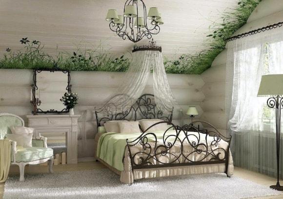Спальня в стиле прованс на даче