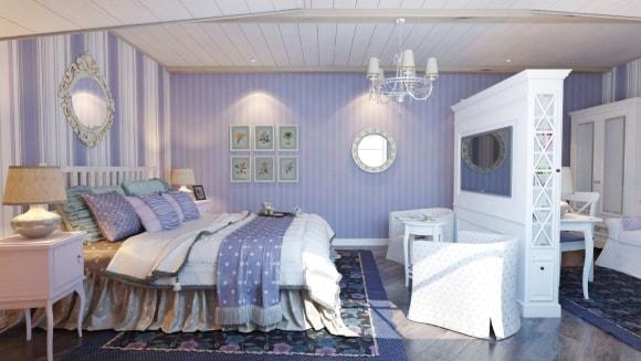 Спальня в стиле прованс в частном доме