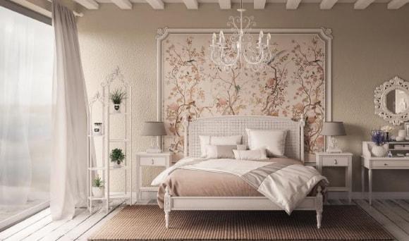 Спальня в стиле прованс в квартире
